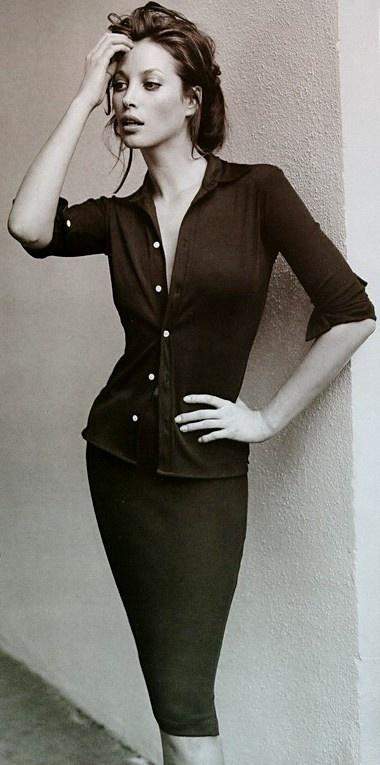 : Mario Testino, 90S Models, Christy Turlington, Christyturlington, Classic Beautiful, Autumn Style, Pencil Skirts, Beautiful Christy, Black
