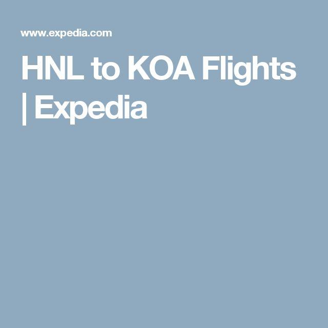 HNL to KOA Flights | Expedia