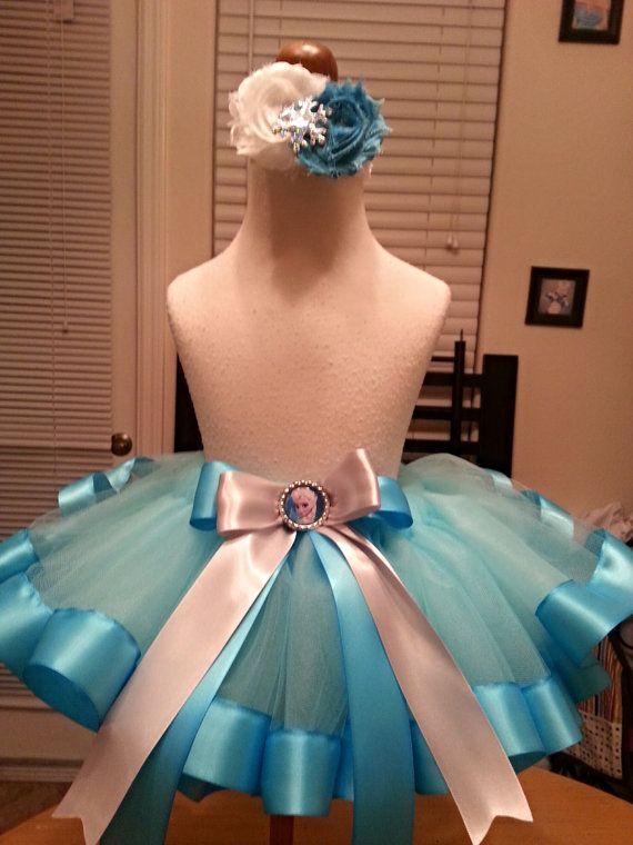 Frozen Queen Elsa Inspired Tulle Tutu Skirt & by HauteTuture, $28.00