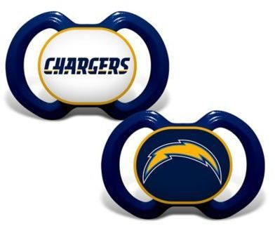 Baby Fanatic Gen. 3000 NFL Los Angeles Chargers 2-Pack Pacifiers