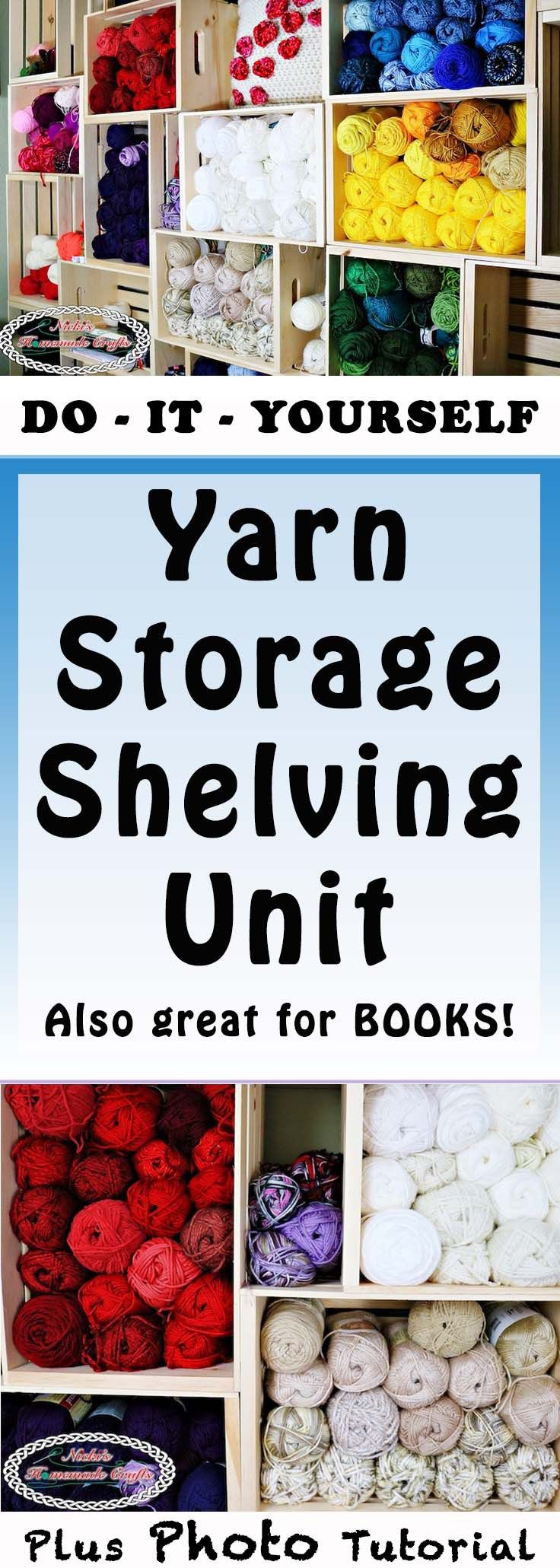 How to create your own DIY Yarn Storage Shelving