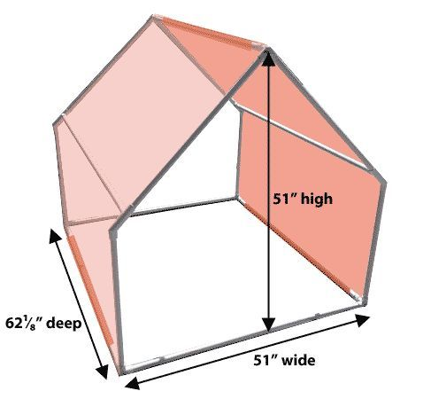 Image result for how to make an a-frame tent prop out of pvc pipe