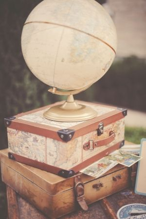 travel-inspired wedding details // photo by GideonPhoto.com