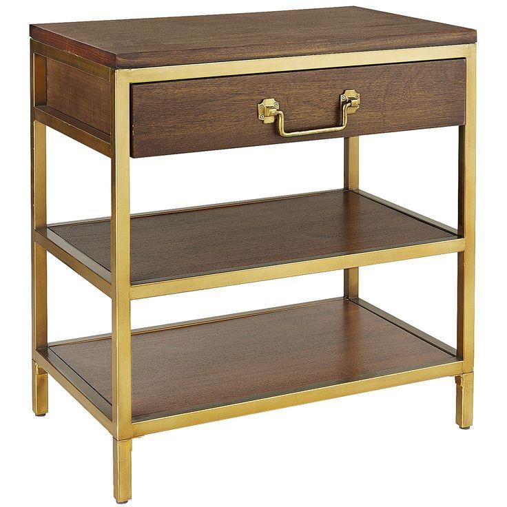 Best Cooper Pecan Brown Nightstand Bedroom Night Stands 640 x 480