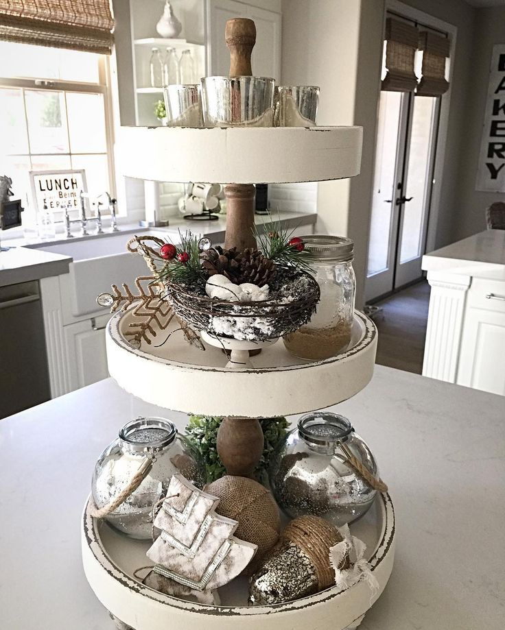 Sharing Some Christmas Bling On My Favorite 3 Tier Tray