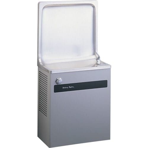 Halsey Taylor HBW8A Wall Mounted Single Station Indoor Water Fountain Cooler, Silver stainless steel