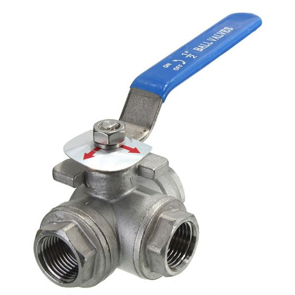 Dn15 G1 2inch Female Thread 3 Way L Port Stainless Steel Ball Valve Acero Inoxidable Uganda Acero