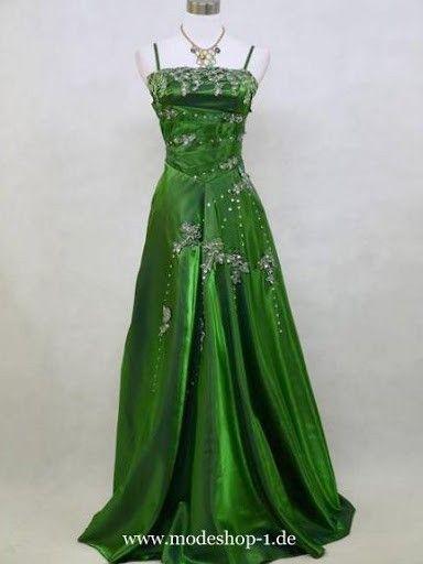 Traum Abendkleid in Dunkel Grün