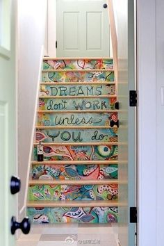I love the look of a painted staircase.