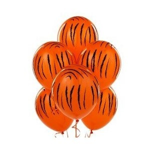 Amazon.com: Jungle Tiger Stripes Latex Balloons: Toys  Games