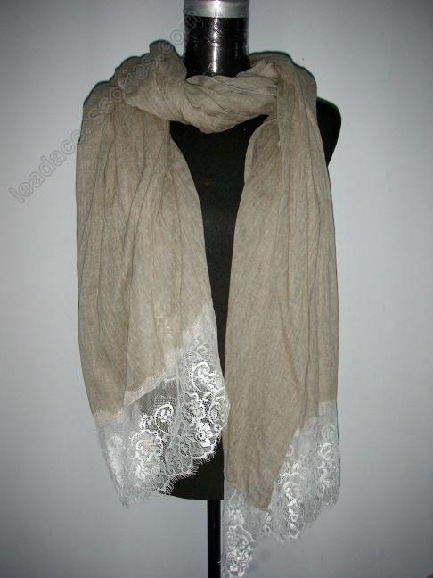 lace scarf | Lace Trim Scarves Ahilya Design