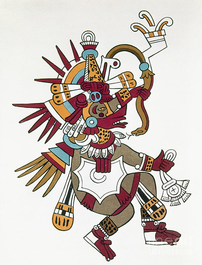 Quetzalcoatl was the Aztec creator god and god of the wind who was depicted as a bearded old man.