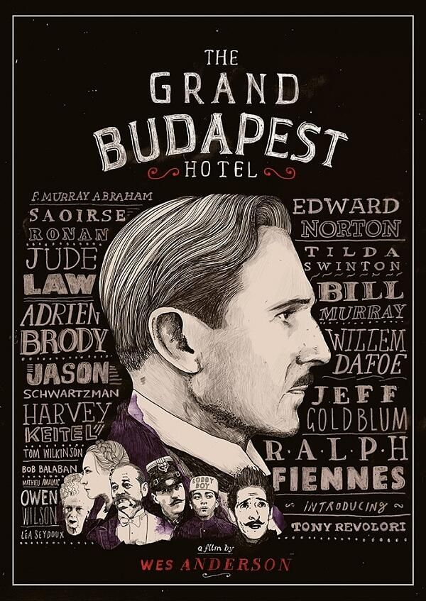 Grand Budapest Hotel alternate poster. Illustrated by Peter Strain.