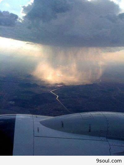 Watching Rain From The Sky