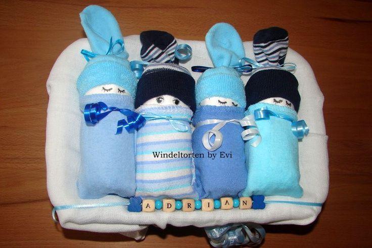 Windelbabys 'Junge Grösse S', kleine Windeltorte! von Windeltorten By Evi auf DaWanda.com