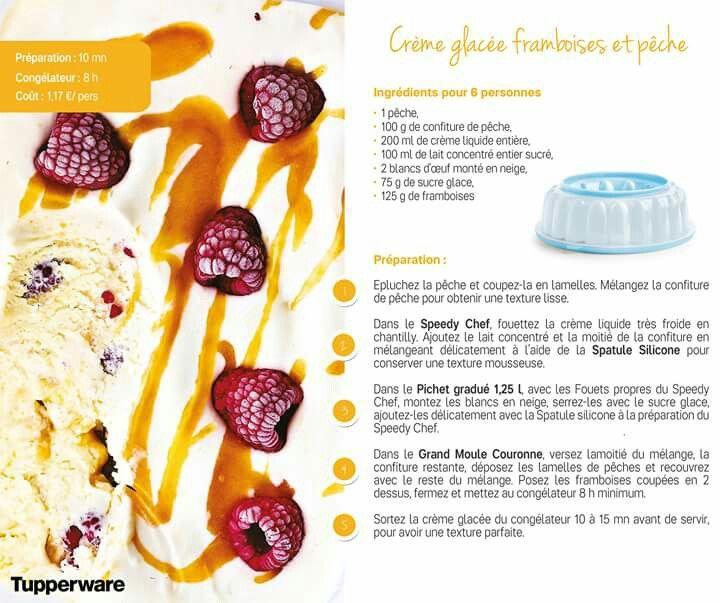 TUPPERWARE - Crème glacée framboise et pêche