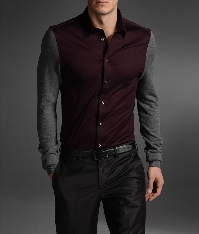 Armani Long sleeve shirt: Men Clothing, Fashion Men, Fashion Clothing, Long Sleeve Shirts, Color Schemes, Men Fashion, Color Combinations, Cool Shirts, Armani Long