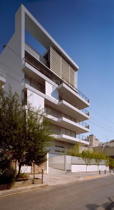 Apartment building in Nea Smirni / Athens / Greece Architect: MPLUSM architects From ArchiTeam http://www.architravel.com/