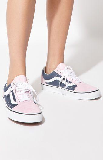 Vans Women s Blue   Pink Old Skool Sneakers in 2018  cb984ee42