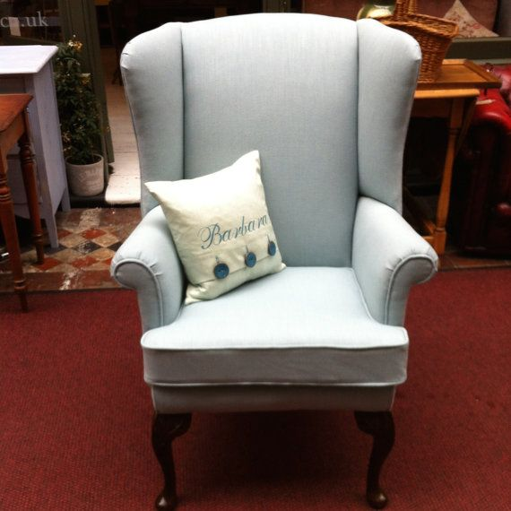 Vintage Wing Back Upholstered Armchair by AbodeClifton on Etsy, £495.00  @abodefurnishings #TheCliftonArcade #Bristol