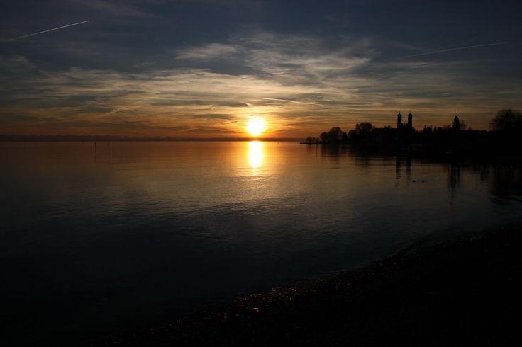 Perfekt: Sonnenuntergang am Bodensee