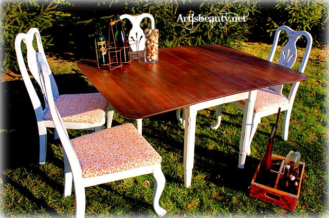 # artisbeauty.net    homemade chalk paint Dining room furniture refinished!  #Chalk Paint