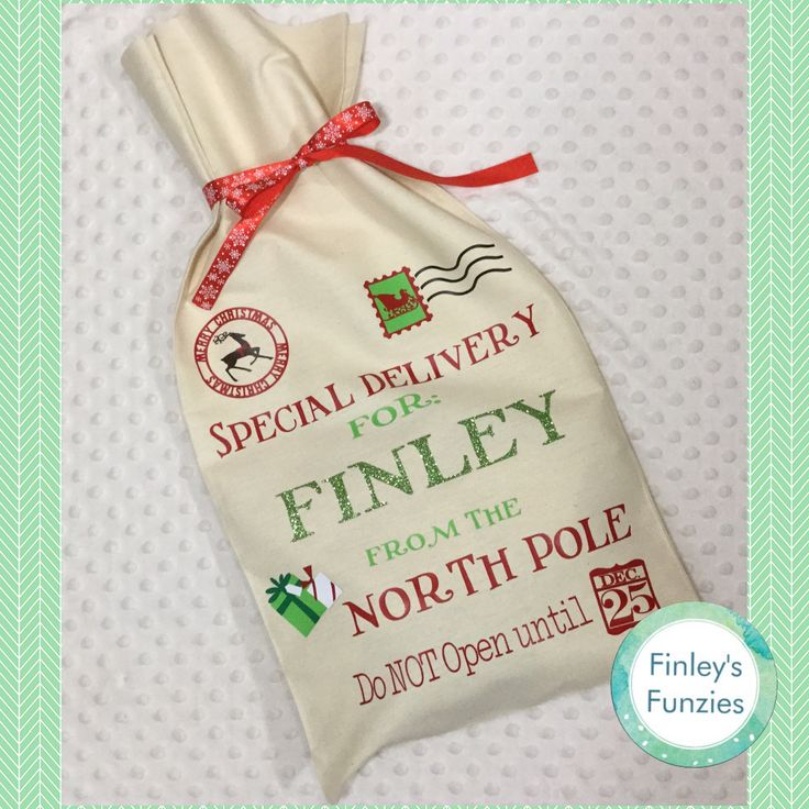 Special delivery personalized Santa sack by FinleysFunzies on Etsy
