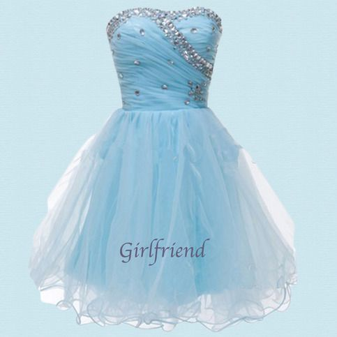 Cute Short Evening Prom Gowns /Homecoming Dress from Girlfriend #coniefox #2016prom