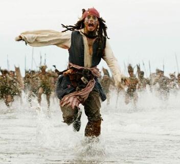 Fluch der Karibik.  Johnny Depp in einer seiner besten Rollen