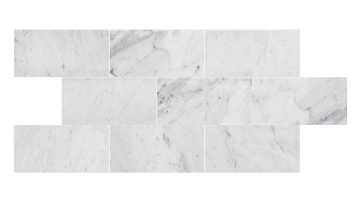 U Brick Carrara Honed, Carraramarmor i klassiskt 7,5x15 format. #Bricmate #Subwaytile