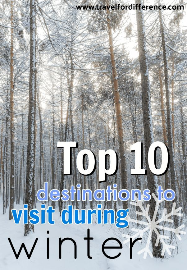 A list of the top 10 winter holiday destinations to visit during winter. The best places to enjoy the snow! #WinterHoliday #SnowTrip #Winter #Holiday