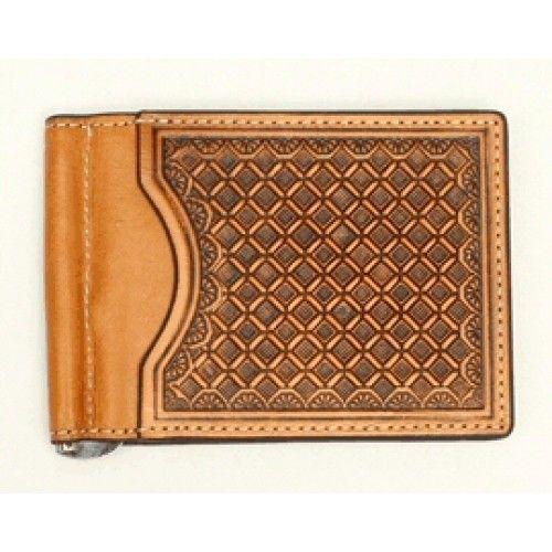 Mens Western Wallets Nocona Natural Bi-Fold Money Clip