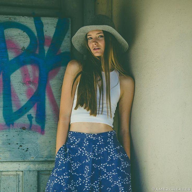 The Bluebird Organic Cotton Midi Skirt, $74.00 (http://www.evangelineclothing.com/the-bluebird-organic-cotton-midi-skirt/)