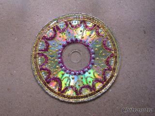 Diwali decor-CD recycle