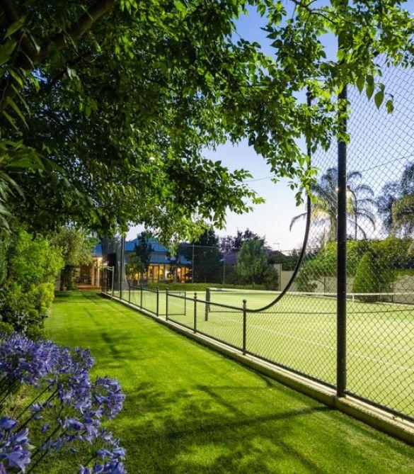 Tennis Court   David Baptiste Garden Design                              …