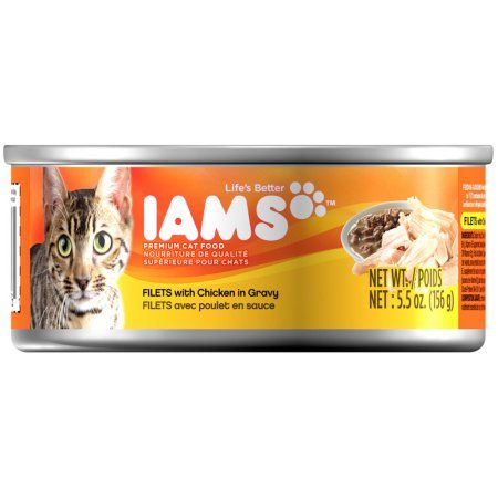 Iams Filets With Chicken in Gravy Canned Cat Food 5 Ounces (Pack of 24)