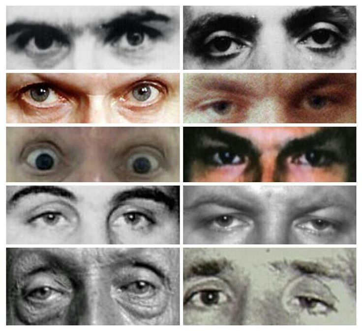 Eyes of 10 different serial killers...is it crazy that I knew them all at first glance?