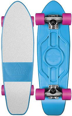 Other Skate- and Longboarding 16265: Dusters Mighty Duster Cruiser Blue White Pink Plastic Skateboard 70 S Board -> BUY IT NOW ONLY: $78.95 on eBay!