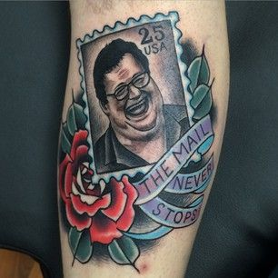 This tattoo of all-round '90s star Wayne Knight as Newman from Seinfeld.   32 Amazing Tattoos That Will Give You Flashbacks To The '90s