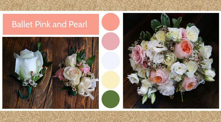 Ballet Pink and Pearl style board Le Bouquet Weddings | Le Bouquet St-Laurent Florist