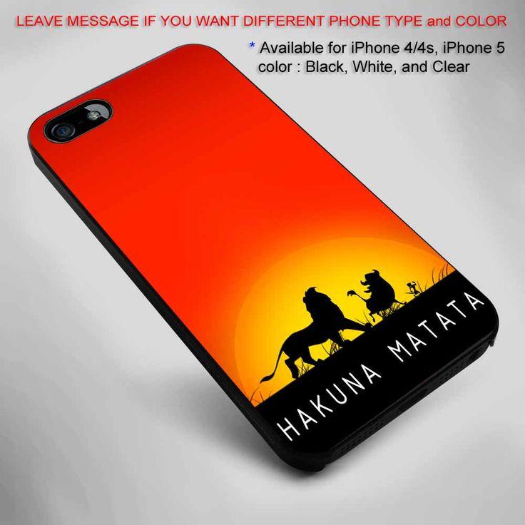 Hakuna Matata, sunset silhouette iPhone 5 BLACK case