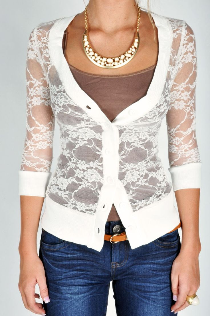 Lacey Cardigan - White. Cute