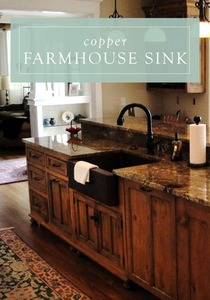 A copper farmhouse sink will add a vintage feel to your traditional-style kitchen. It is sure to be the focal point of your room for years to come.