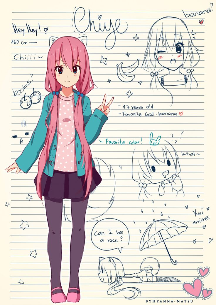 Just something I did some time ago and forgot to post ~~ Chiye is a cat-dog, but if you don't know how to draw kemonomimi features, she's a human is also possible! xD These are alternative clothes,...