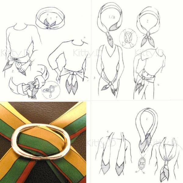 [4600008] アンティーク 加工 ベルト バックル 型 ゴールド 色 スカーフ リング_detail & 使用例