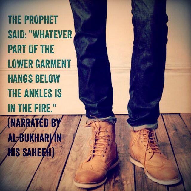 Garment below ankles for men is in the fire... #Islam, #Isbal, #Fire