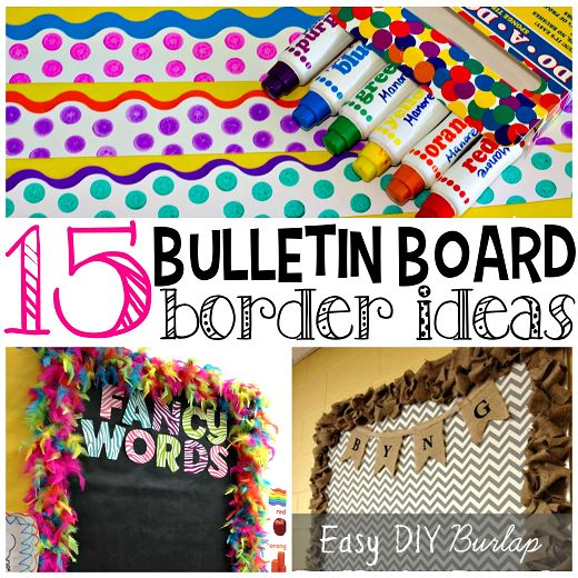 Here are some creative and homemade bulletin board border ideas for teachers to make in their classrooms!