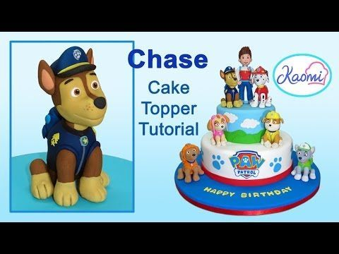 Paw Patrol (Cake Topper): Chase / Patrulla de cachorros: Cómo hacer a Chase - YouTube