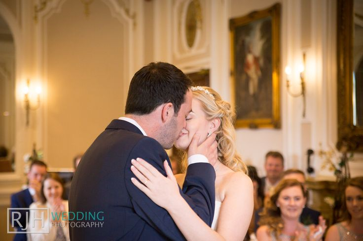 Ringwood Hall Hotel Wedding Photography - Chatsworth Suite - First Kiss