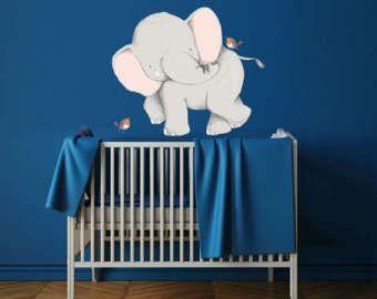 Elephant Wall Decal - Elephant Decal - Elephant Wall Sticker - Elephant Decor - Elephant Wall Art - Elephant Nursery - Safari Nursery -WB406